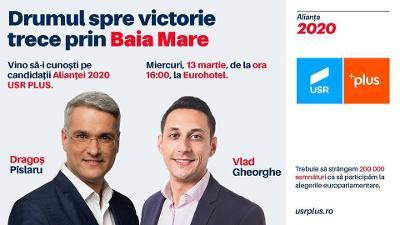 Drumul spre victorie trece prin Maramures! Candidatii Aliantei 2020 USR - PLUS vin in Baia Mare