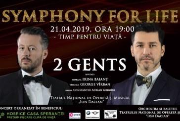 Duo-ul 2 Gents, format din artistii Doru Todorut si Ciprian Rogojan, concert caritabil la Teatrul National de Opereta