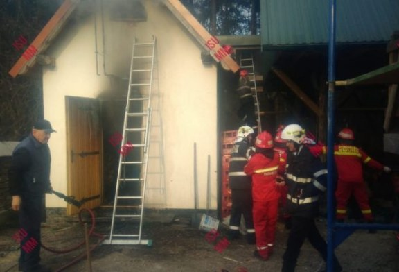 Astazi: Incendiu la Sapanta