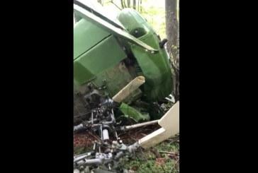 Elicopter prabusit la Sapanta. Pilotul a fost gasit mort