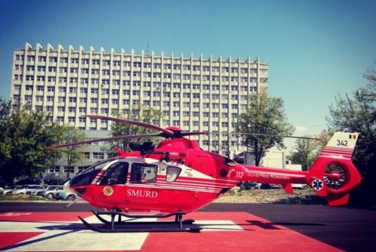 Astazi: Maramuresean transportat la Institutul Clinic Fundeni cu elicopterul SMURD