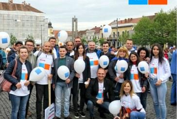 Maramureseni la primul miting electoral organizat de Alianta 2020 USR PLUS