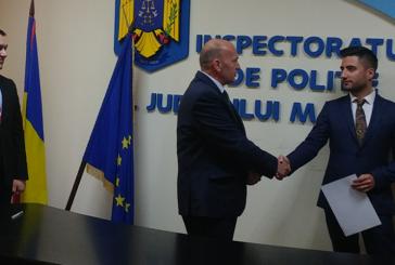 Trei politisti au inceput cariera la Inspectoratul de Politie al Judetului Maramures
