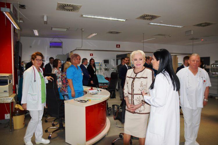 Spitalul Judetean de Urgenta din Baia Mare, vizitat de Premierul Romaniei si Ministrul Sanatatii