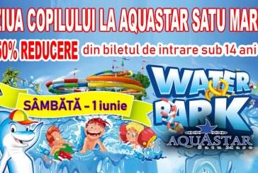 De Ziua Copilului, la Aquastar Satu Mare: Reducere 50% la bilet pentru copiii sub 14 ani