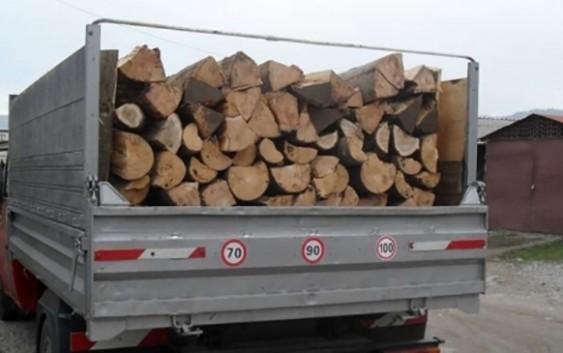 Localnic din Leordina amendat pentru transport ilegal de material lemnos