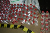120 litri alcool confiscati de politistii de frontiera din Viseu de Sus