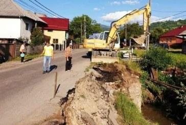 Podet afectat de precipitatiile torentiale pe DN 17C, in localitatea Sacel