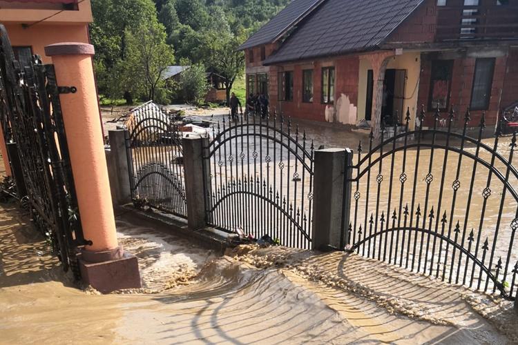 Din nou inundatii la Sapanta, in urma unei ploi torentiale