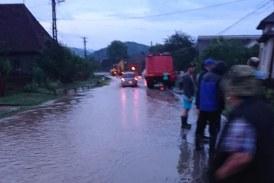 Gospodarii inundate la Suciu de Sus in urma unei ploi abundente (FOTO)