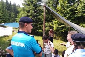 """Cavnic: 50 de copii din Bucuresti si Bihor au participat la tabara de vara """"Siguranta in vacanta"""""""
