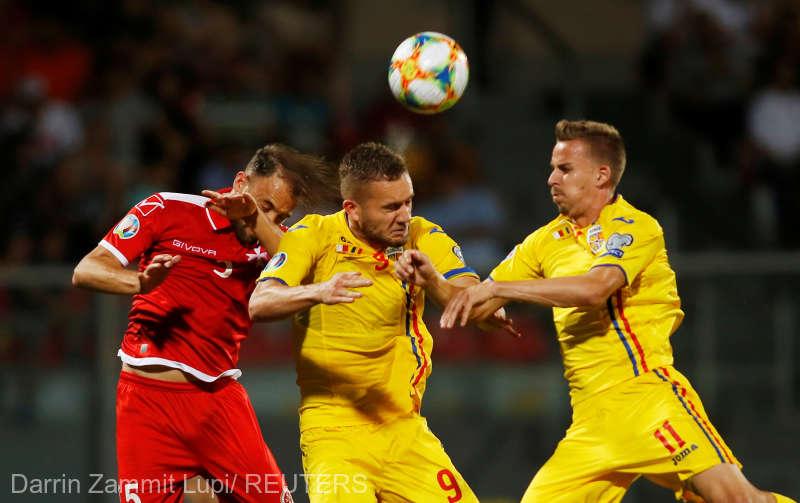 Fotbal: Malta - Romania 0-4, in preliminariile EURO 2020