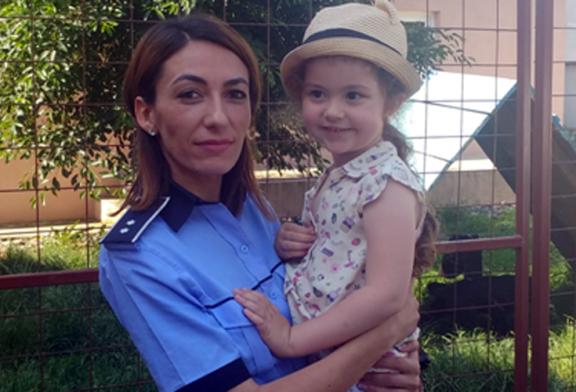 O fetita si-a petrecut ziua de nastere la Inspectoratul de Politie al Judetului Maramures