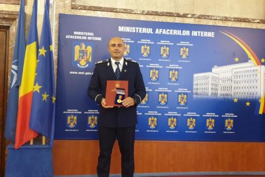 Un politist maramuresean a primit emblema de onoare MAI