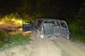 Autoturism oprit cu mai multe focuri de arma in apropierea localitatii Bistra