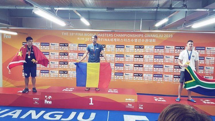 Baimareanul Ioan Stefan Gherghel este campion mondial la 100m fluture, Coreea de Sud
