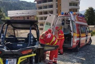 Maramures: Turista din Ungaria accidentata in zona Cascadei Cailor. Aceasta cobora dinspre Varful Stiol. Salvamontistii si jandarmii din Borsa au preluat interventia