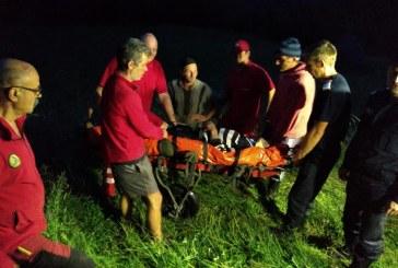 UPDATE: Persoana lovita de un taur, intr-o zona dificila de pe Valea Viseului