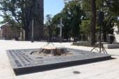 """Stejarul din Piata Cetatii a fost taiat. Copiii vor planta, in locul lui, un platan. Cladirea in care functioneaza Scoala Generala """"Petre Dulfu"""" va deveni un centru cultural"""