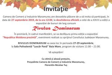 """Participare internationala la cea de-a XXVII-a editie a expozitiei de bunuri de larg consum """"RivulusDominarum"""""""