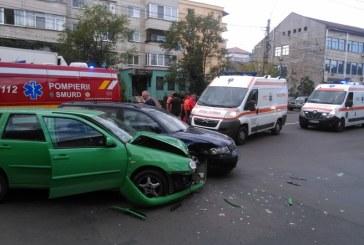Baia Mare: Accident cu victime pe Republicii. Trei copii transportati la UPU