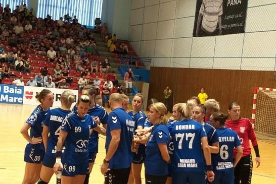 Handbal feminin – Liga Florilor: Fetele de la Minaur au invins Slobozia si raman in zona fruntasa