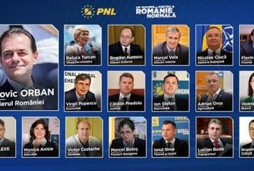 BEx al PNL a aprobat lista noului Cabinet Orban, care cuprinde aceiasi ministri