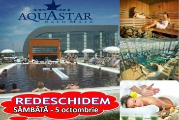 Sambata – 5 octombrie – Aquastar isi redeschide portile