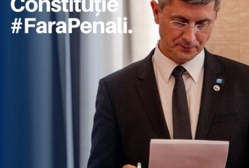 Fara Penali in Functii Publice, un proiect major al lui Dan Barna pentru Romania