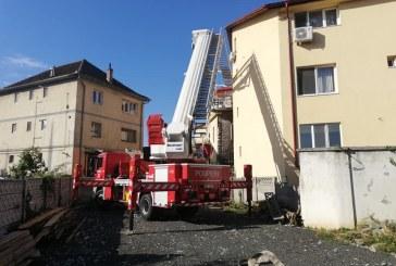 Baia Mare: Pagube in urma unui incendiu la o magazie de lemne