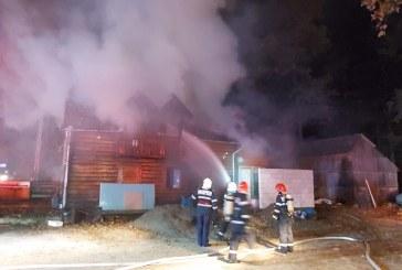 UPDATE: Incendiu la o cabana din Satulung (FOTO)