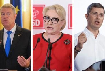 Sondajul USR pentru prezidentiale: Iohannis-40,5%, Dancila-21,4%, Barna-19,7%