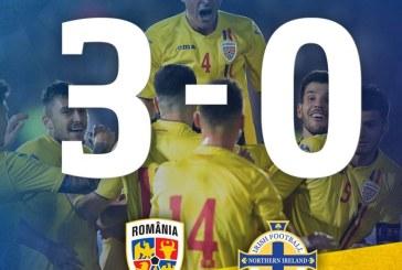 Fotbal: Victorie clara a Romaniei, 3-0 cu Irlanda de Nord, in preliminariile Campionatului European Under-21