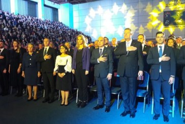 "(GALERIE)Fotografia zilei: Klaus Iohannis, prezent la Sala Polivalenta ""Lascar Pana"""