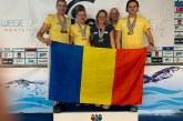 Inotatorii Gold Stars Baia Mare, pe podium 10 medalii, la Campionatele Internationale Masters din Ungaria