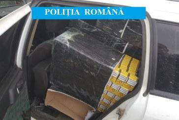 Contrabandist din Ucraina, retinut la Seini dupa o urmarire in trafic. 165.000 de tigarete confiscate