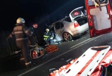 UPDATE: Accident la Cicarlau. Doua persoane incarcerate (VIDEO)