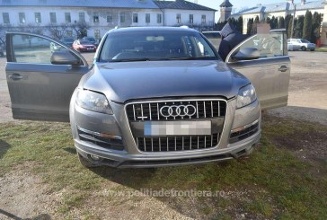 Audi Q7 cautat de autoritatile din Marea Britanie, descoperit in Cavnic