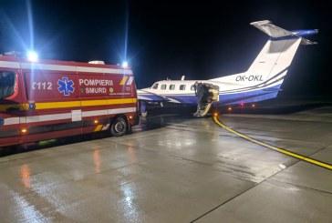 Pacientul cu arsuri de gradul III si IV a fost preluat de un avion medical din Gyor, Ungaria