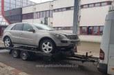 Mercedes cautat de autoritatile din Belgia, descoperit de politistii de frontiera