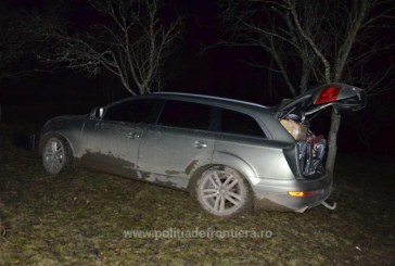 "Audi Q7 ""blindat"" cu tigari de contrabanda. Masina a fost depistata pe raza localitatii Rona de Jos"