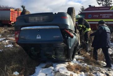 Inca un accident pe drumurile Maramuresului: O persoana a ajuns la spital (FOTO)