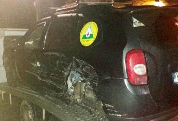 Masina de interventie a salvamontistilor maramureseni, accidentata in trafic
