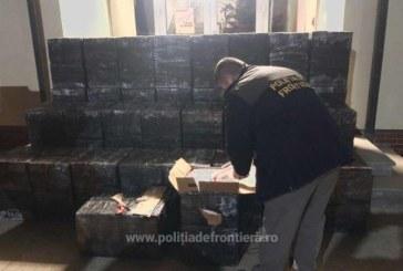 Contrabanda la Valea Viseului. Politistii de frontiera au confiscate peste 25.000 de pachete cu tigari