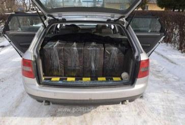 "Audi A6 ""blindat"" cu tigari de contrabanda. Masina a ramas in custodia politistilor de frontiera"