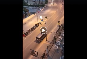 Dezastru: Strazi pustii intr-o statiune din Spania (VIDEO)