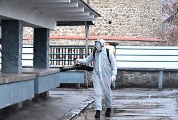 Coronavirus: A inceput dezinfectia si in locurile publice din Baia Mare (FOTO)