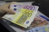 Euro a scăzut din nou