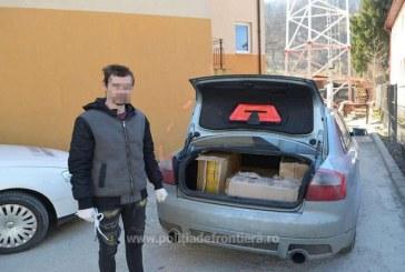 Sistem de inchidere al portbagajului modificat pentru contrabanda cu tigari