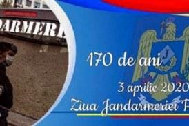 De Ziua Jandarmeriei, militarii sunt alături de cetățeni executând misiuni specifice în contextul prevenirii răspândirii virusului Covid-19